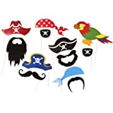 Pirate Party Photo Accessories - 12 Colorful Props On A Stick - Birthday Paty Photo Booth Props by Roxan