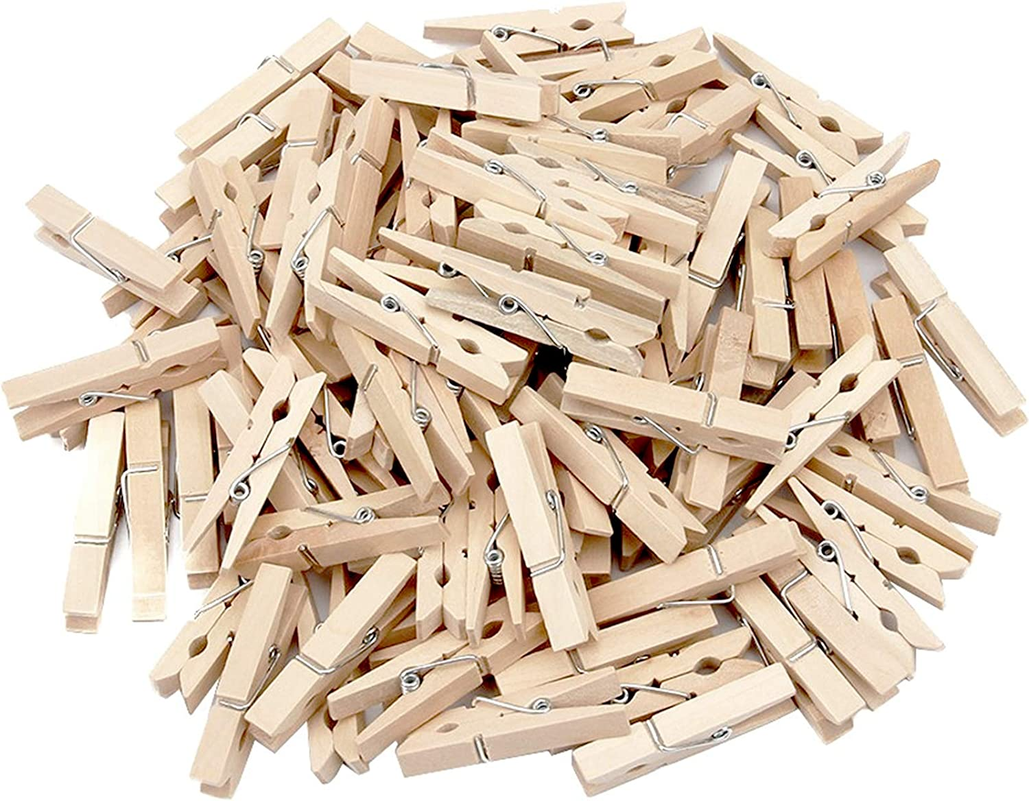 Generic Sturdy Natural Wood Clothespins 1 3//4-200//pkg