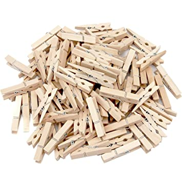 100-count Mainstay Standard Wooden Clothespins