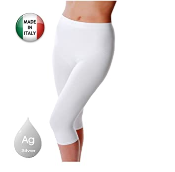 611a654d250cc Image Unavailable. Image not available for. Color: Anti cellulite slimming  capri pants + silver ...