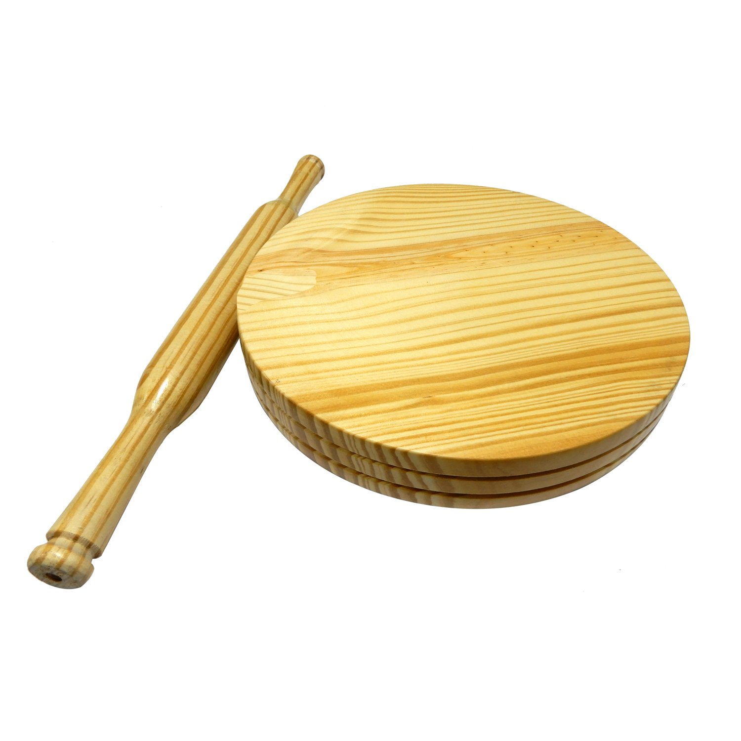 MAKER SMALL ROTI WITH ROLLING PIN CHAPATI WOODEN CHAKLA BELAN CHAKLA 9 INCH Easter Day // Mother Day // Good Friday Gift CIRCULAR BOARD