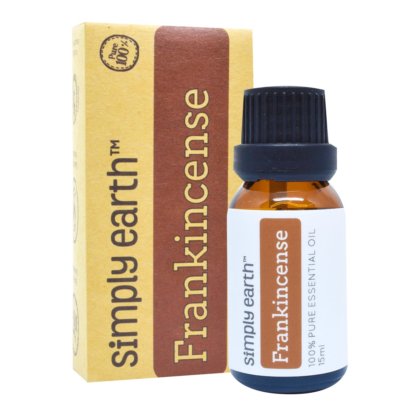 Simply Earth Frankincense Essential Oil by 15 ml, 100% Pure Therapeutic Grade