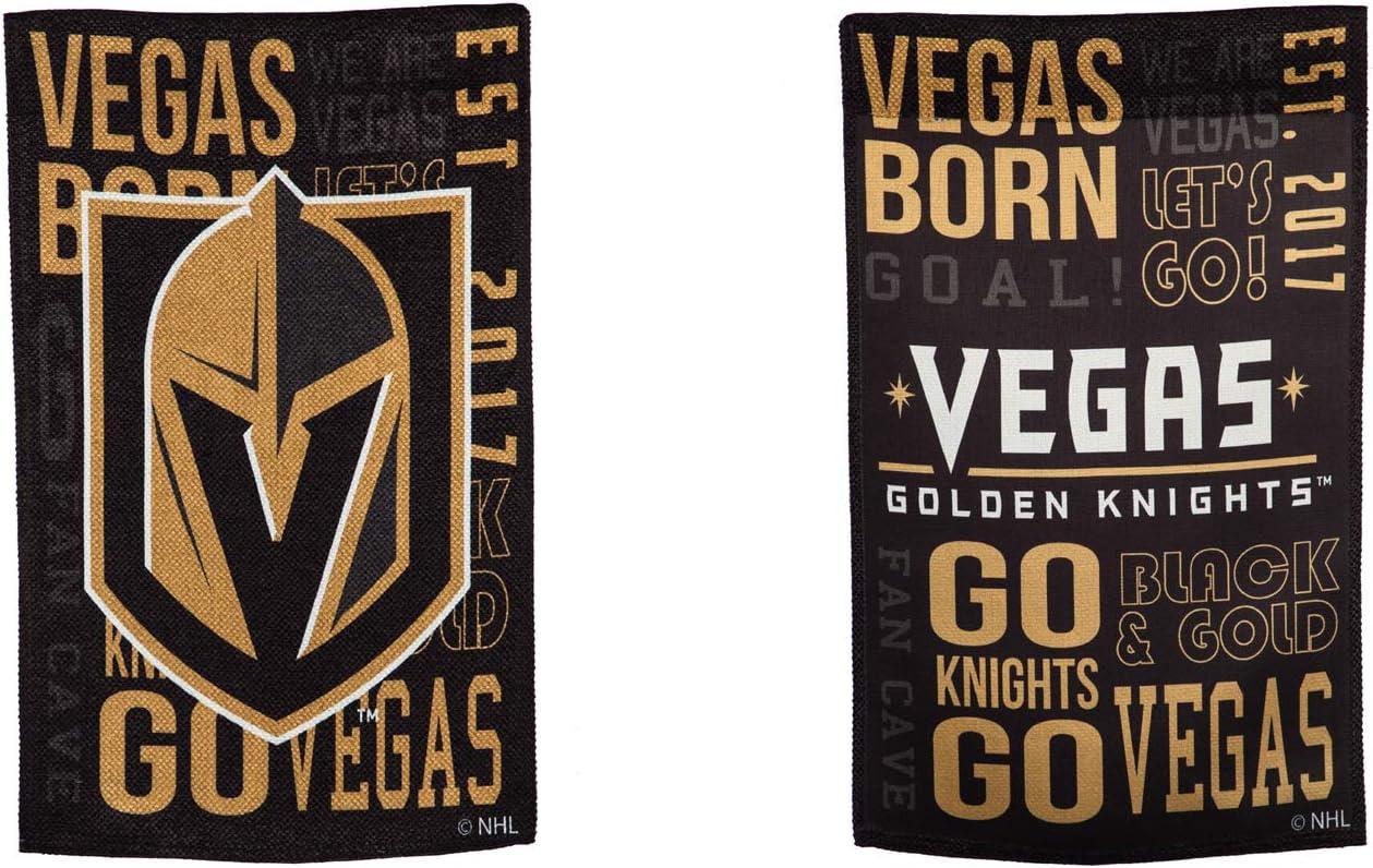 Team Sports America Vegas Golden Knights Fan Rules Garden Flag - 13 x 18 Inches