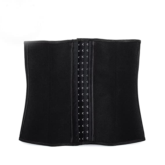 36890d4659 queenral Women s Latex Steel Boned Waist Trainer Corset for Weight Loss   Amazon.co.uk  Clothing