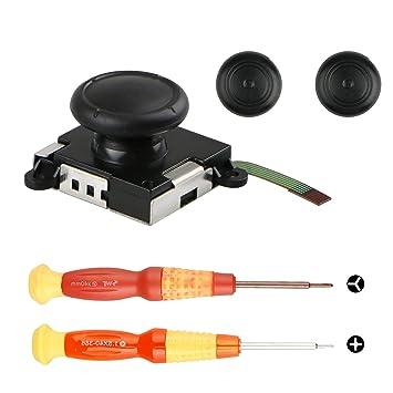 EEEKit 3D Joystick de reemplazo con Joystick analógico para Nintendo Switch Joy-con Controller - Incluye Herramienta de Destornillador de Tres alas y ...
