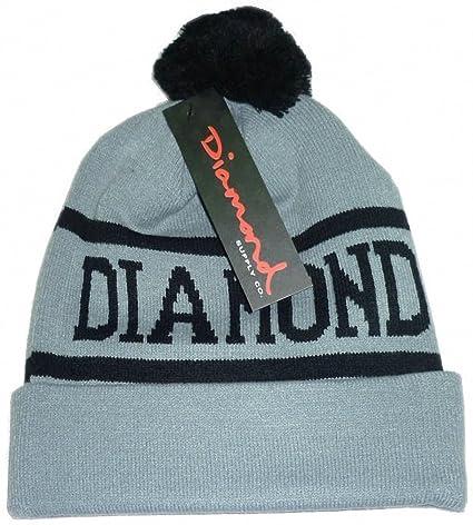 2c198a6ac36 Amazon.com  Diamond Supply Co Beanie Hats (Gray and Black)  Sports    Outdoors