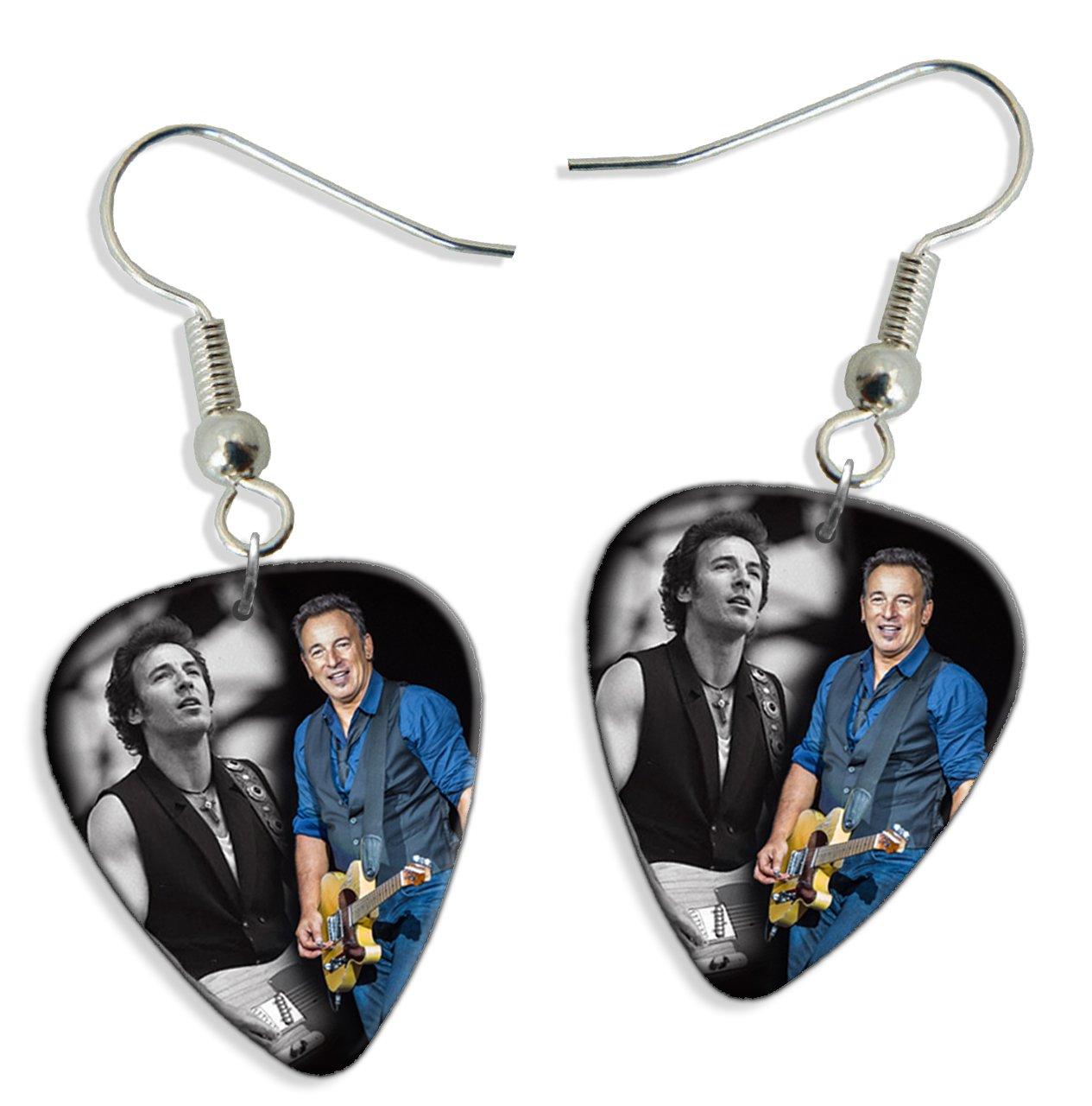 Live Performance Bruce Springsteen (WK) 2 X Guitarra Pick Earrings ...