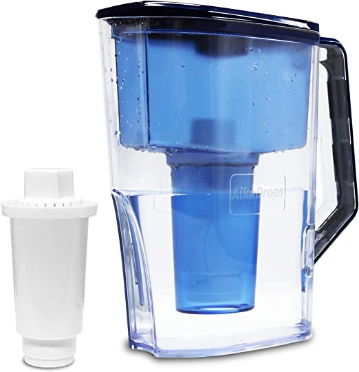 Lake Industries The Alkaline Water Pitcher Free Filter Included 7 Stage Filteration System to Purify and Increase PH Levels 3.5 Liters