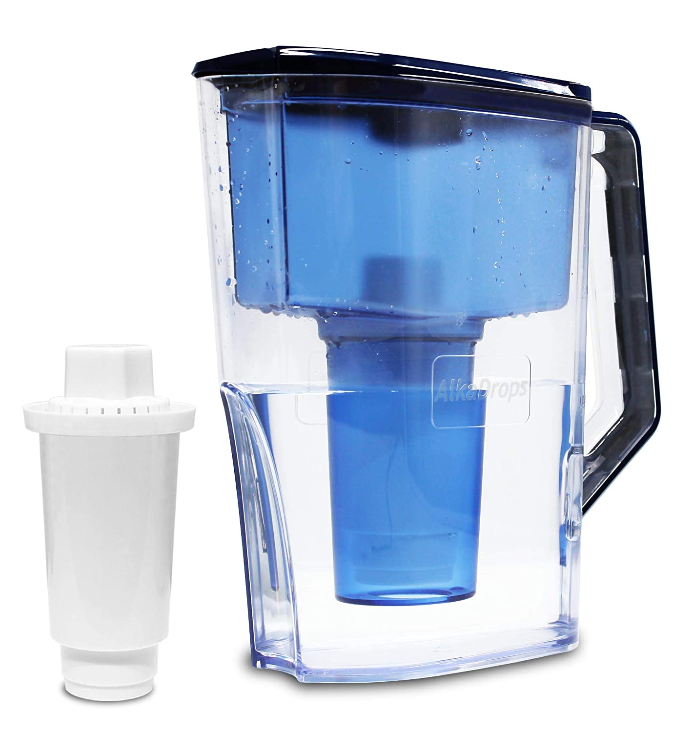 Water Filter Pitcher, Alkaline Water Pitcher,Water Alkaline Filter Pitcher -7 Stage Ionizer Filtration System to Purify and Increase PH Levels - Clean, Refreshing Water, 10 Cup Pitcher,BPA free