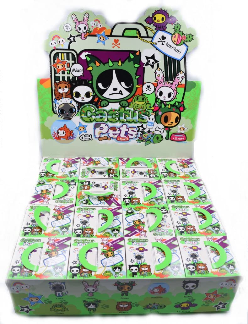 tokidoki cactus bunnies series case of 16 blind box