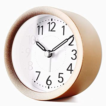 TXL Reloj despertador digital de metal para habitación de los niños Silent Snooze reloj de mesa ...