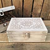 Celtic Design Wood Storage Box for 15ml Essential Oil Aromatherapy Bottles by Rivertree Life