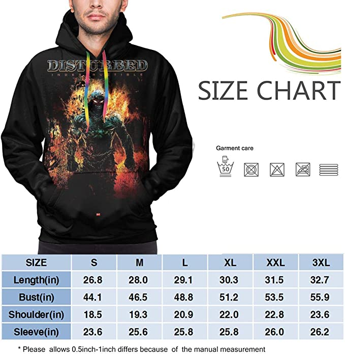 Disturbed Band Hoodie Longsleeve New Men/'s Hoodie Size S to 3XL