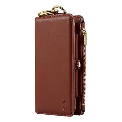 338164d0ea MINIBA レディース ウォレット 磁気スキミング防止 ワックス本革 長財布 iPhoneケース iPhone8まで対応