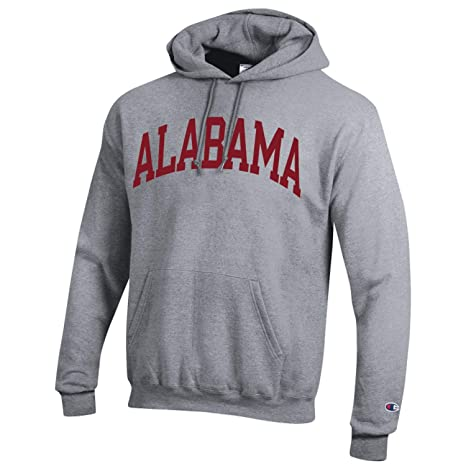 Champion NCAA Men s ECO Power Blend Hooded Sweatshirt with Tackle Twill  Embroidered Lettering-Classic Heather 9f1a413e5