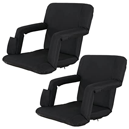 Ordinaire ZENY Set Of 2 Portable Extra Wide Stadium Seat Chair For Bleachers Or  Benches,Folding