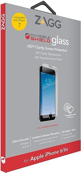 sale retailer 47520 7e867 ZAGG InvisibleSHIELD Glass Screen Protector for iPhone: Amazon.co.uk ...