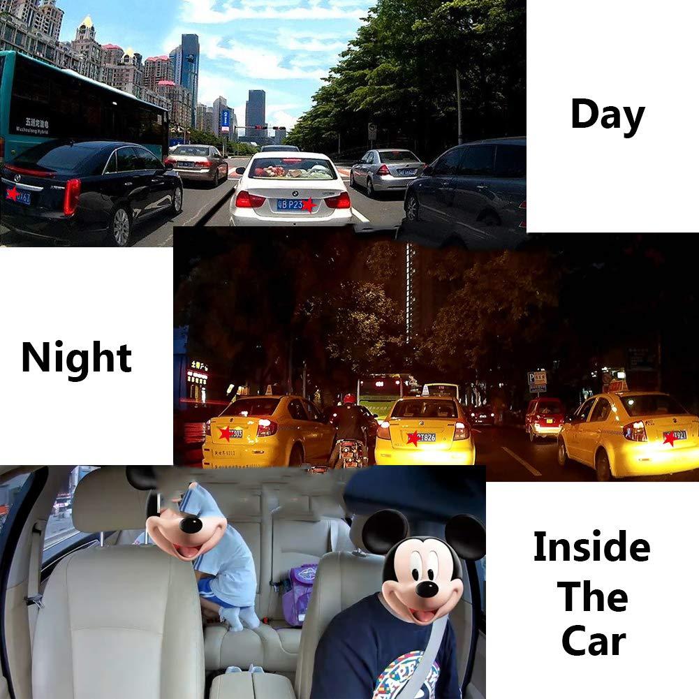 4K Ultra HD WIFI 360/° 2,7 Inch Dash Cam Per Auto,Anteriore Posteriore Doppia Telecamera Dashcam Auto Per Monitoraggio Atti Vandalici Con Collision Sensor Monitor Di Parcheggio E Rilevatore Movimento