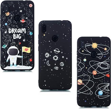 Cover Xiaomi Redmi 9,Custodia per Xiaomi Redmi 9,Cover Silicone Nottilucenti Luminoso Cristallo Case Vetro Temperato 3D Fluorescente Duro Protettiva Antiurto Backcover Farfalla Blu