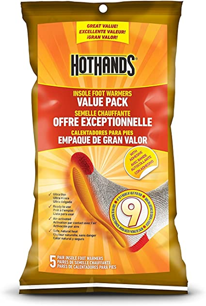 2 Pack Hothands Insole Foot Warmer 5 pair Each Value Pack