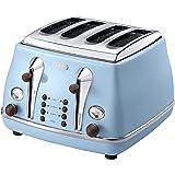 De'Longhi CTOV4003.AZ Vintage Icona Anita 4 Slice Toaster - Azure Blue