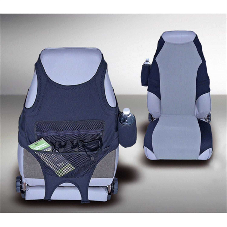 Rugged Ridge 13235.19 Neoprene Seat Protectors, Black, Gray, 76-06 Jeep CJ And Wrangler B001FAGKHQ