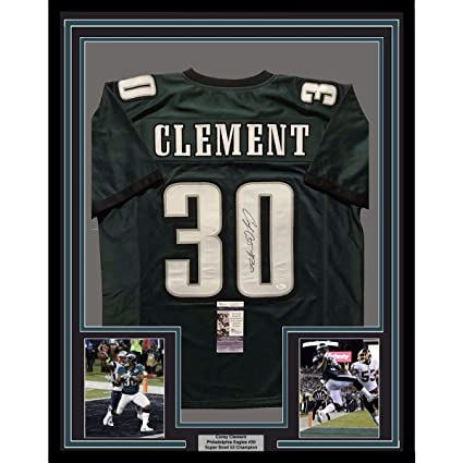 f22fe60a665 Image Unavailable. Image not available for. Color: Framed  Autographed/Signed Corey Clement 33x42 Philadelphia Eagles ...