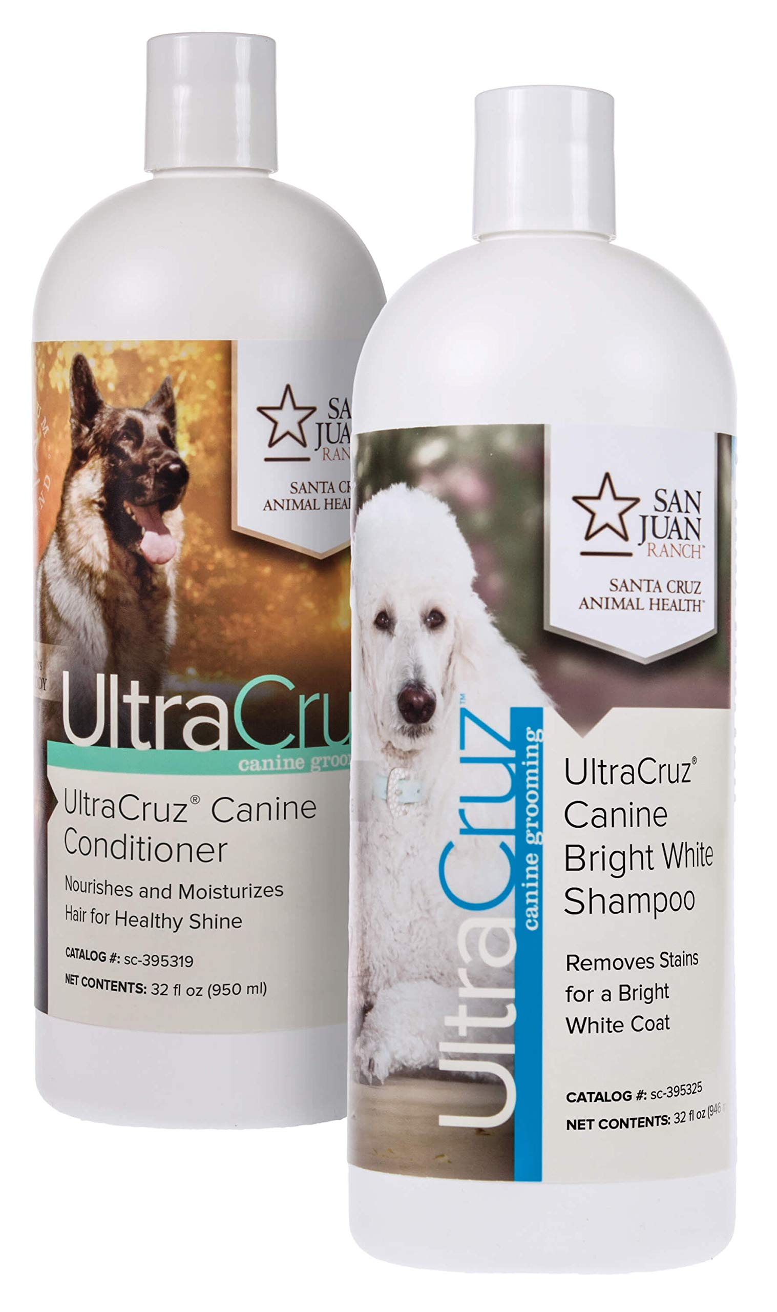 UltraCruz Canine Bright White Dog Shampoo and Conditioner Bundle, 32 oz Each by UltraCruz