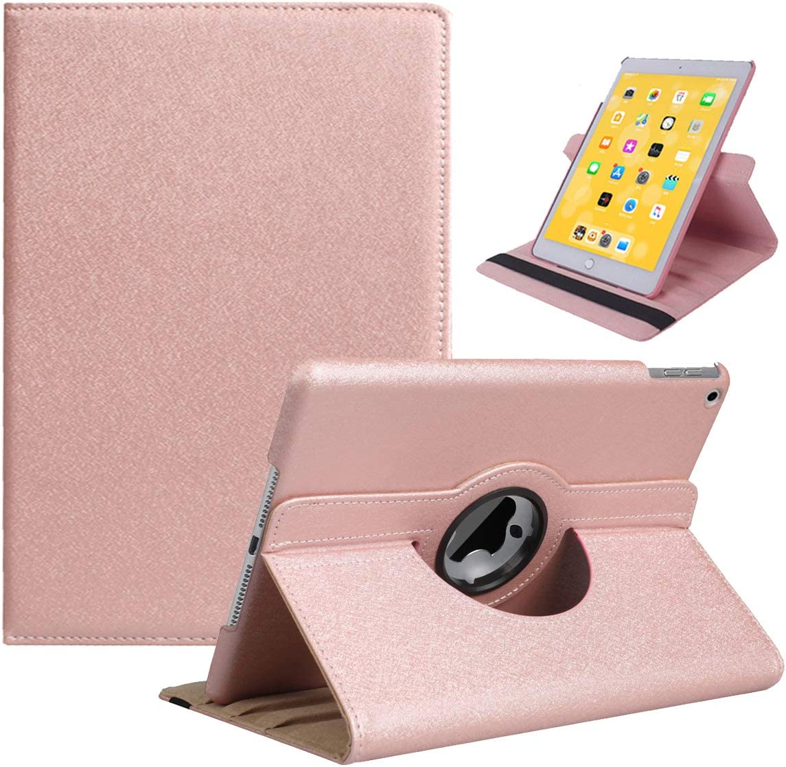 LRCXL New iPad 8th Generation Case 2020, iPad 7th Generation Case 2019 - 360 Degree Rotating Stand Protective Cover with Auto Sleep Wake for Apple New iPad 10.2