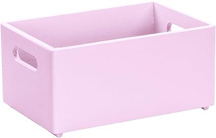 Caja de madera para guardar cosas en tamaño M de Laublust, pino sin tratar,