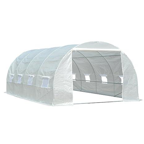 Serra da giardino acciaio PVC per piante con scaffali orto esterno 186x120x190cm
