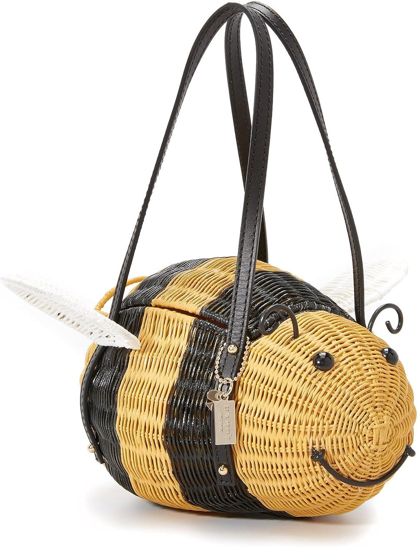 Kate Spade New York Womens Wicker Bee Bag