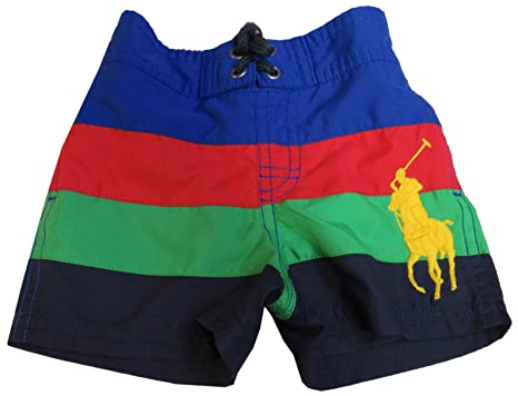 cb28766fa5 Polo Ralph Lauren Infant Boy's Swim Trunks Green/Red/Blue Multi (6 Months
