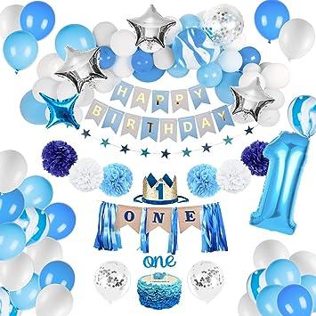 Amazon.com: Joyypop decoraciones de primer cumpleaños ...