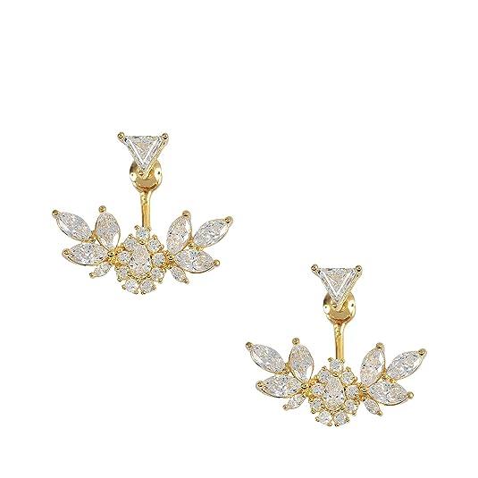 Shourouk Z Triangle Flower earrings CeX7isk7