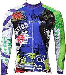 14536cfe1 QinYing Men Patterns Breathable Long Sleeve Biking Cycling Jersey Top