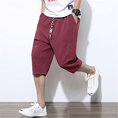 46db607ac1b Brand Summer Linen Hip Hop Pants Men Breathable Thin Flax Trousers New  Joggers Sweatpants Male Cotton