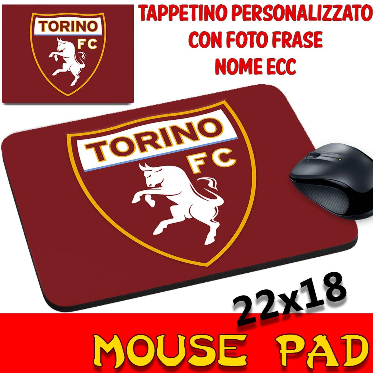 MyCust Tappetino Mouse Pad Personalizzato Squadre Calcio Torino FC Toro Granata Stemma Logo Foto