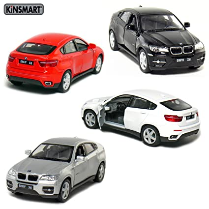 Amazon Com Set Of 4 5 Bmw X6 Suv 1 38 Scale Black Red Silver