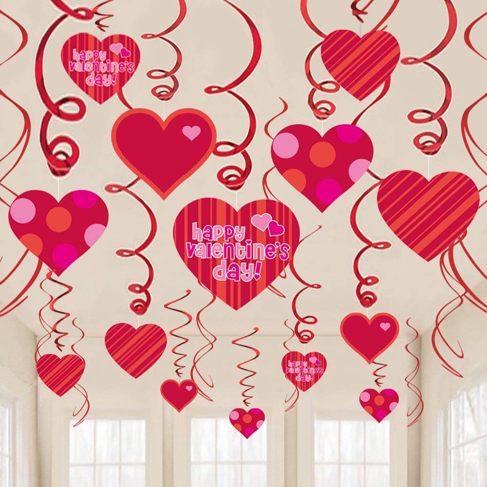Wedding Party Backdrop Decor Supplies Heart Hanging Decorations Garland Banner 6Set