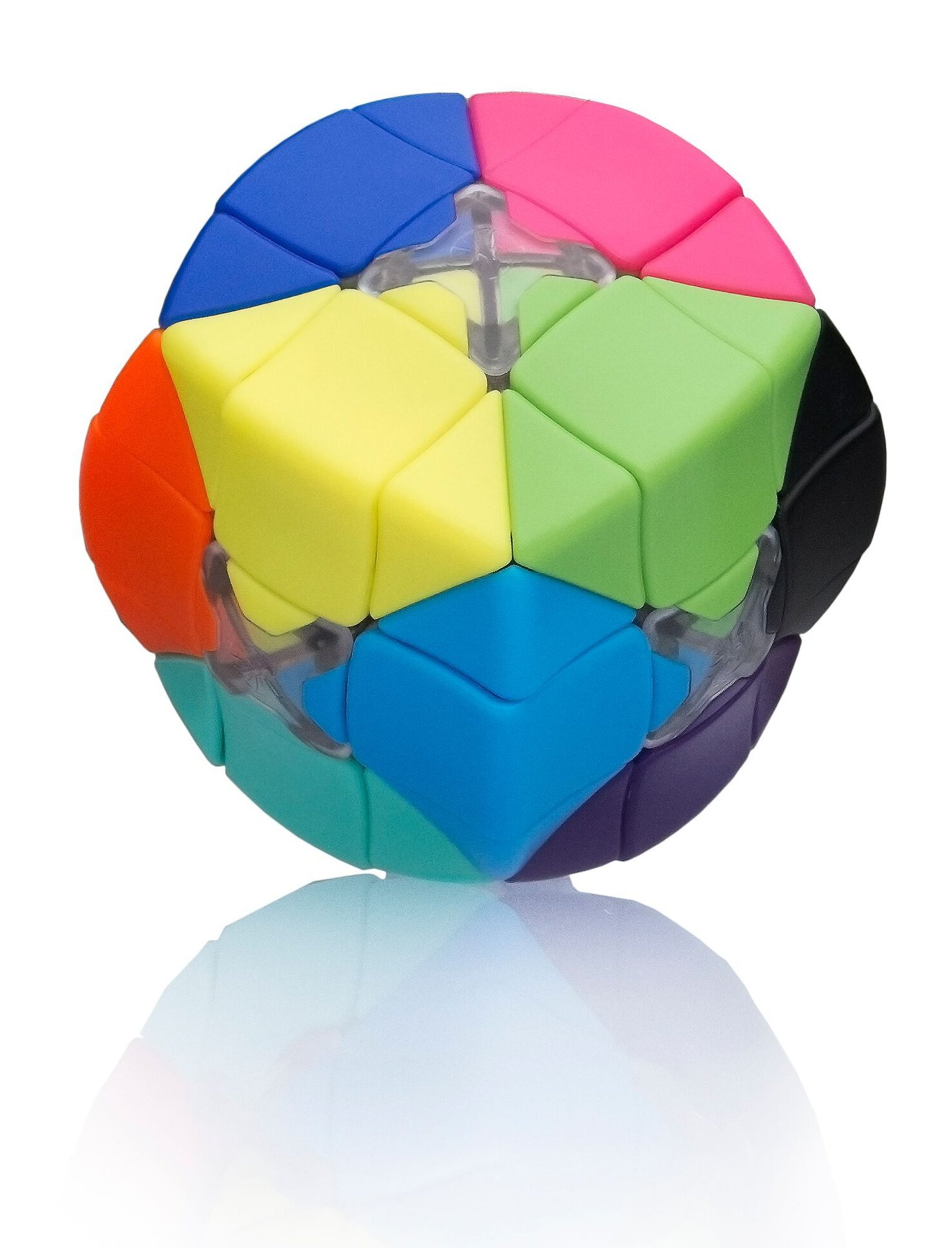 Armadillo Cube: Smooth turning - Stickerless - 12 Candy Colors - Resettable - Awesome Brain Teaser - Advanced 3x3x3 Puzzle - Brand New Challenges - 100% Money Back Guarantee! by Armadillo Cube (Image #1)