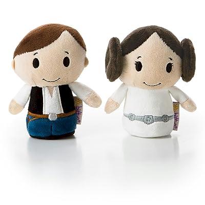 Hallmark itty bittys Star Wars Han Solo and Princess Leia Stuffed Animals: Home & Kitchen