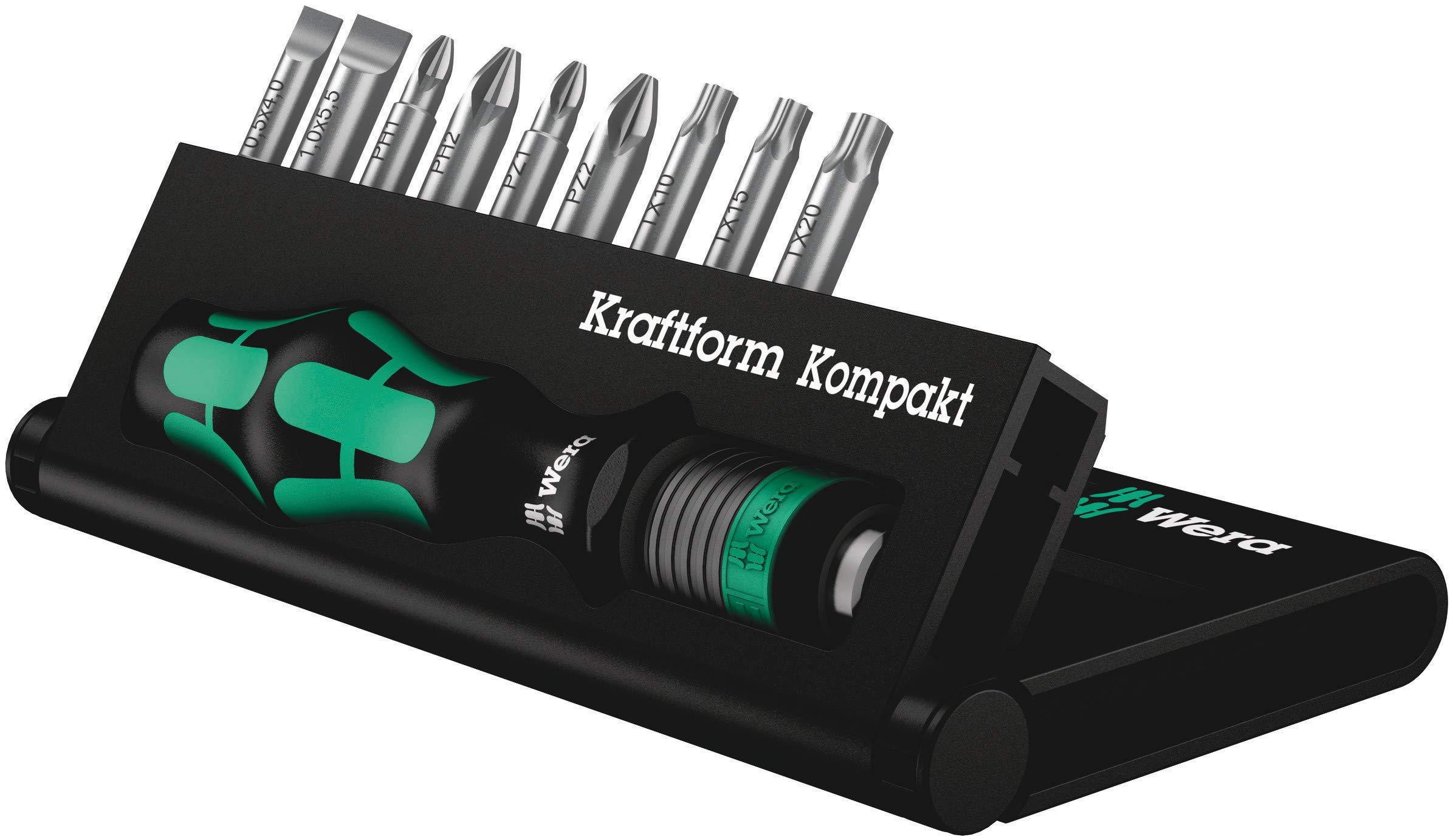 Wera KK 10 Porta-puntas y Set de puntas compacto de 10 Pz.