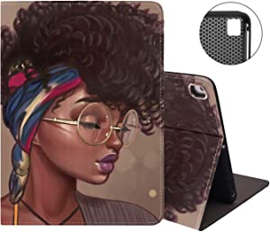 iPad 9.7 2018/2017 Case, iPad Air 2, iPad Air, Pro 9.7 Case, Protective Leather Case, Adjustable Stand Auto Sleep/Wake Smart Case for ipad 6th/5th Gen, African Girl with Sexy Lips