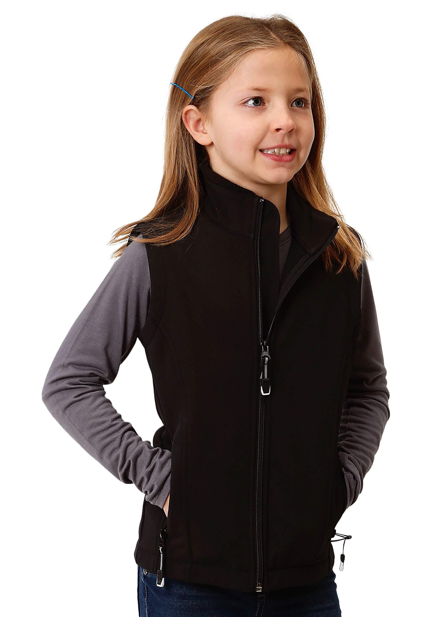 Roper Girls' Outerwear Vest 0781-7004, Black - Small by Roper