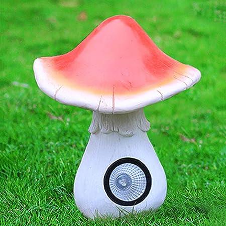 Pet Adornos De Acero Al Aire Libre De Vidrio Seta Jardín De Setas De Luz Solar Escultura Simulacion Adorno De Jardín 23X23X32cm: Amazon.es: Hogar