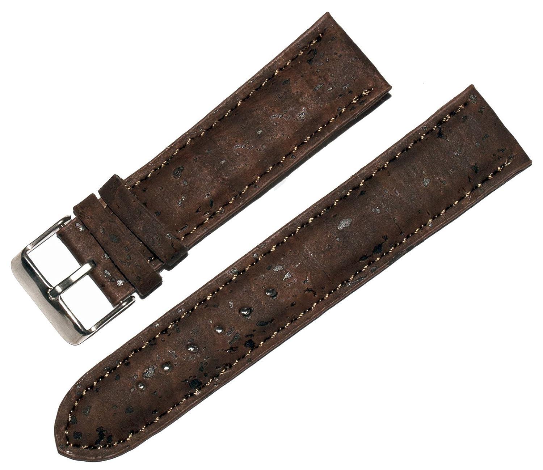 ブラウンコルク時計ストラップ – ハンドメイド – Vegan – 腕時計バンド 22 mm  22 mm B07716J29S