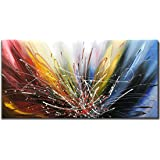 Tiancheng Art 24x48 inch Abstract Art Canvas Art Paintings Contemporary Artwork 100% Hand-Painted Oil Painting Wall Art…