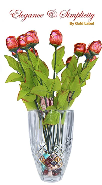 Amazon Marquis By Waterford Sparkle 9in Vase With One Dozen 12