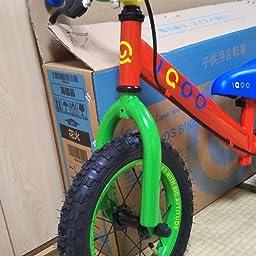 Amazon Cycmoto 幼児用 ペダルなし自転車 12インチ 2 3 4 5 6歳 子供用 バランス 花火 子供トレーニングバイク ランニングバイク ブレーキ付き ゴムタイヤ装備 キッズバイク 男の子 女の子 ピンク イエロー ペダルなし自転車 おもちゃ